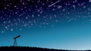 望遠鏡と星空