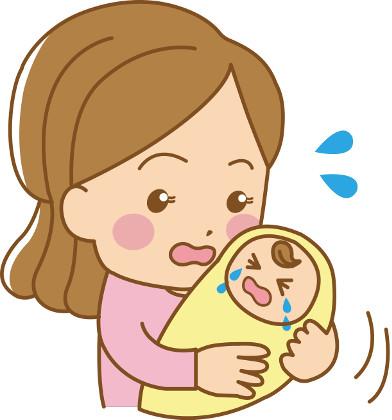 赤ちゃんをあやすお母さん
