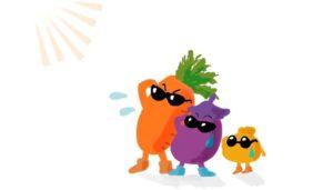 暑がる野菜たち