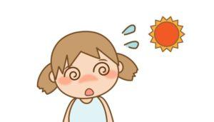 熱中症の女の子