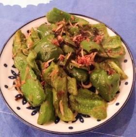 緑黄色野菜☆ピーマンのすっぱ和風炒め