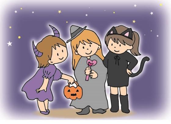 ハロウィンの仮装をしている女の子