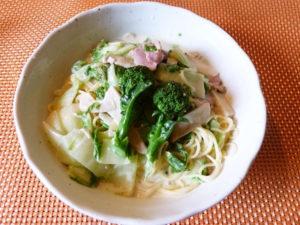 白菜とブロッコリーdeスープパスタ~♪