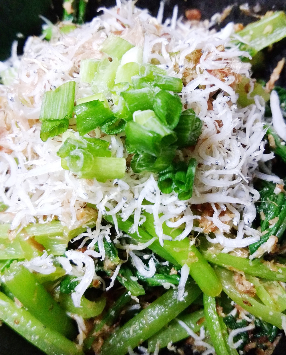 小松菜とちりめんの炒め