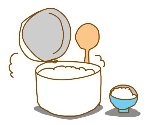 炊飯器で炊いたご飯