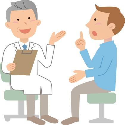 病院の先生と会話